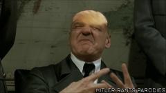 Hitler wearing a Trump wig
